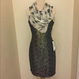 Dresses & Skirts - Beautiful Black and Silver Party Dress